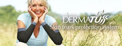 DermaTuff Arm Sleeves for Skin Tears. Oatmeal or Black