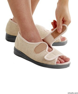 Womens Wide Adjustable Sandals Indoor Outdoor Sandals Adjustable With Straps