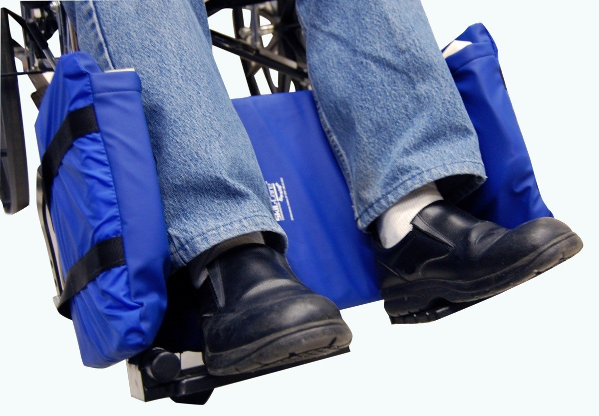 Wheelchair Leg Rest With Padded Sides