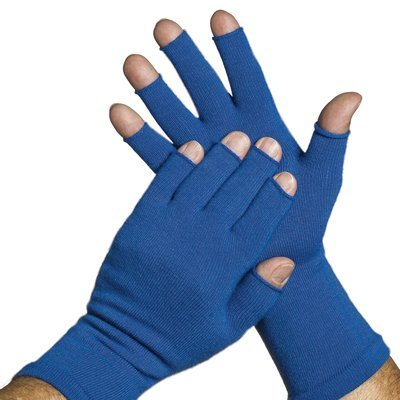 3/4 Finger Gloves - Medium Weight. Keep hands warm with Raynauds. UPF 50+ Sun Protection (Pair)