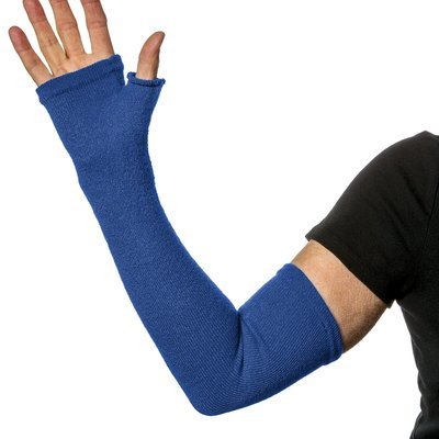 UPF 50+ Sun Protection Weak Frail or Fragile skin protection with Long Fingerless Gloves - Medium Weight. Weak skin protection. (Pair)