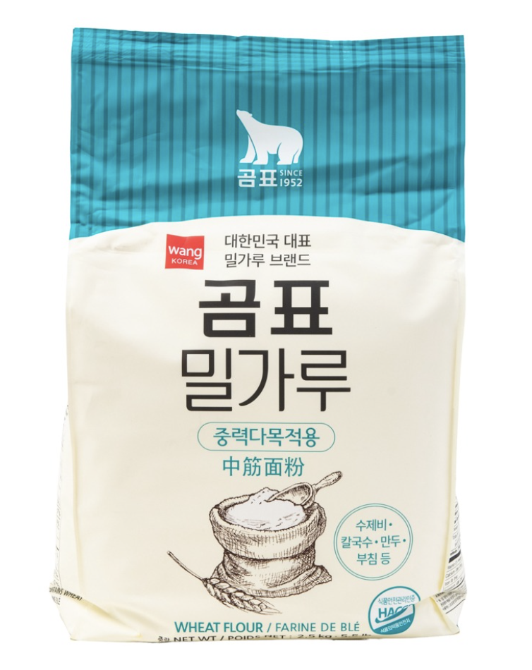Wang 中筋面粉(限购2包) WANG KOREA WHEAT FLOUR 2.5kg (5.5 lbs)