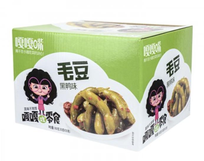 嘎嘎嘴 卤毛豆香辣味 30bag Green Soy Bean (spicy flavor) 30bag*30g 900g