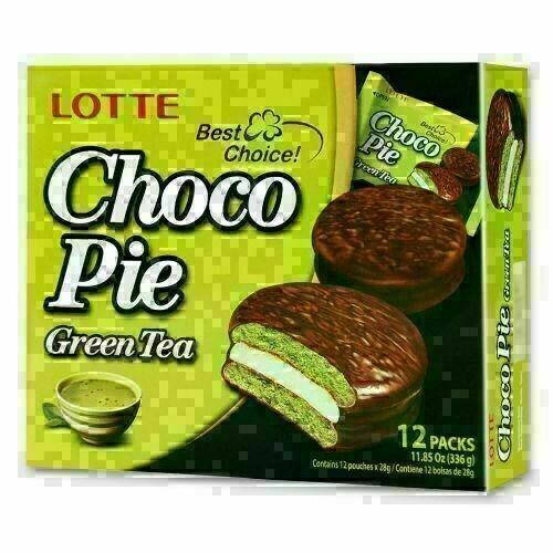GROC【杂货】Lotte绿茶巧克力派 12pc