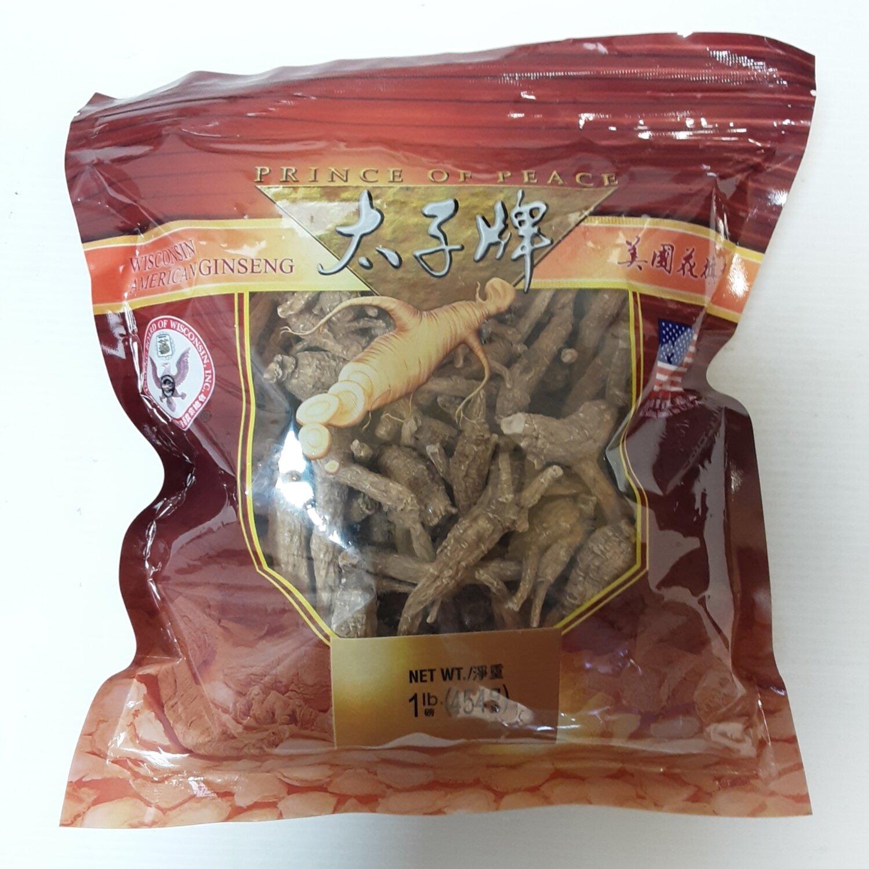 GROC【杂货】太子牌 美国花旗参(袋装 未切片) ~454g(1lb)