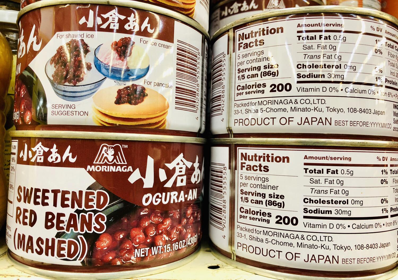 罐装日本小仓红豆OGURA AN CAN Sweet red beans(mashed) ~0.95lb