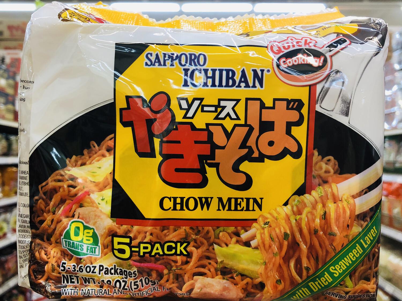 GROC【杂货】SAPPORO ICHIBAN炒面~5-3.6ozPackages (510g)