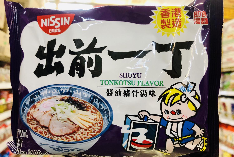 GROC【杂货】日清食品 出前一丁酱油猪骨汤味~3.53oz(100g)