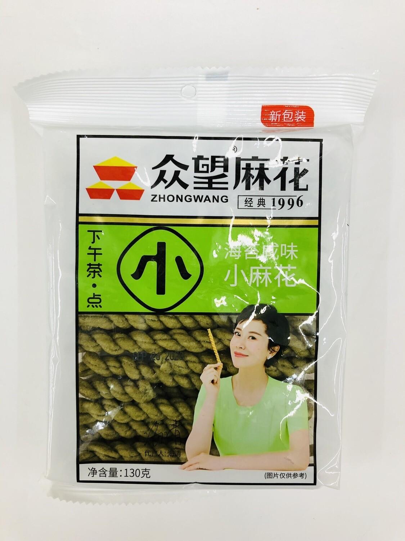 GROC【杂货】众望麻花海苔咸味小麻花~130g