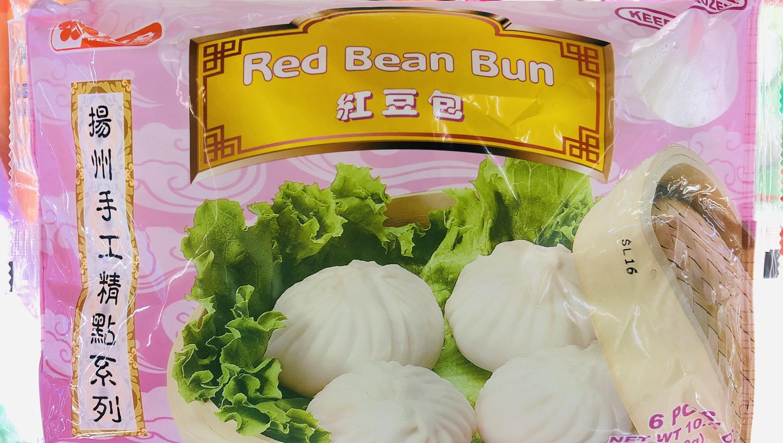 FZ【冷冻】味全扬州手工红豆包~6PCS.10.5oz(300g)