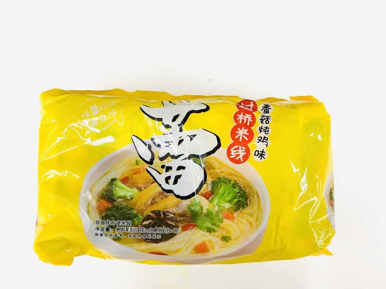 GROC【杂货】陈村过桥米线香菇炖鸡味4包装~100g*4包