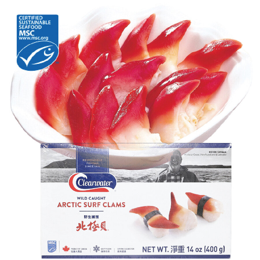 北极贝 / pk Arctic Surf Clams USA Wild Caught ~14oz