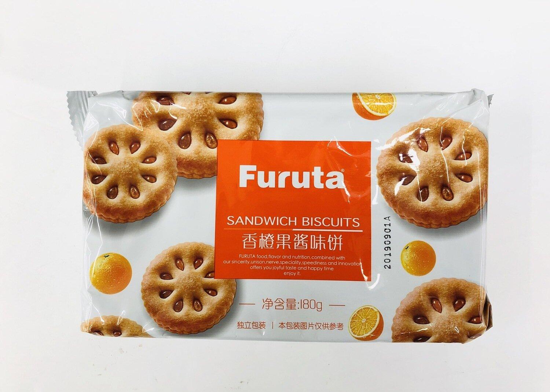 GROC【杂货】Furuta SANDWICH BISCUITS 香橙果酱味饼~180g