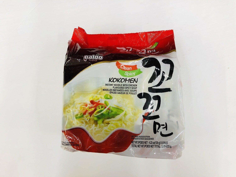 GROC【杂货】paido KOKOMEN INSTANT NOODLE WITH CHICKEN SPICY SOUP~4.23oz(120g)*5PKGS