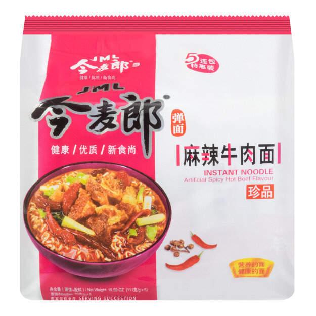 GROC【杂货】今麦郎 麻辣牛肉面 五连包