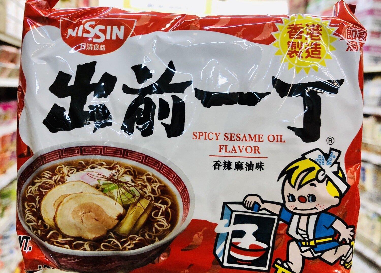 GROC【杂货】日清食品 出前一丁香辣麻油味~3.53oz(100g)