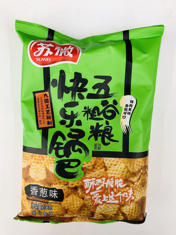 GROC【杂货】苏微快乐锅巴五谷粗粮香葱味~108g