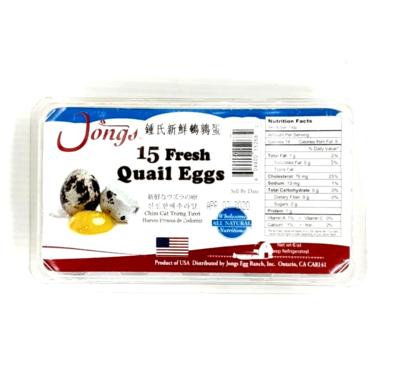 ❄钟氏新鲜鹌鹑蛋 ~15个(6oz)(15 Fresh Quail Eggs) Jongs 15 Fresh Quail Eggs 15pcs(6oz)