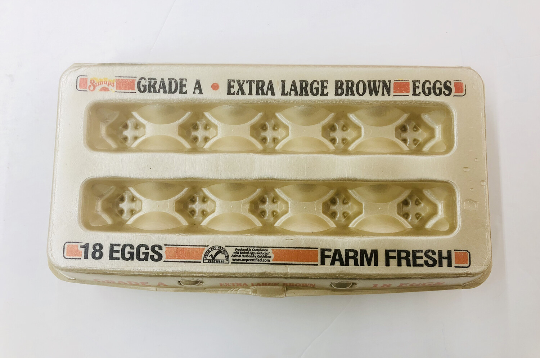 黄鸡蛋 18个 LRG Brown EGGS 18/pk