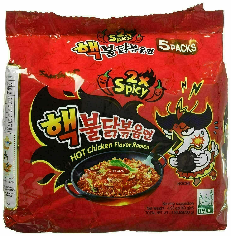 GROC【杂货】Hot Chicken Flavor Ramen - 2X Spicy ~700g(1.55lbs)