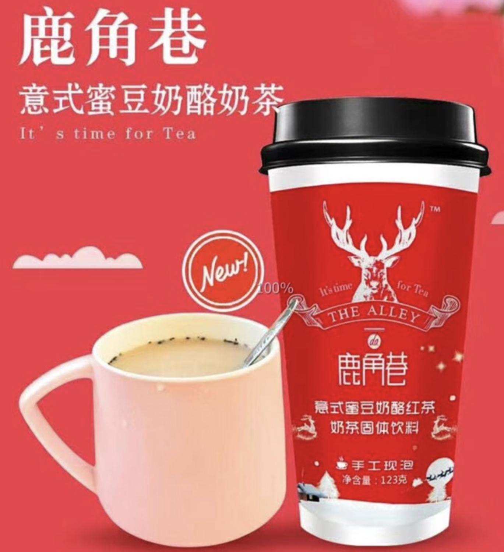GROC【杂货】鹿角巷 意式蜜豆奶酪红茶 ~123g