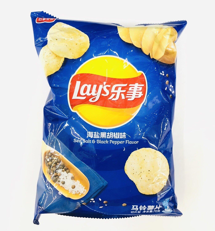 GROC【杂货】乐事黑胡椒味薯片~70g