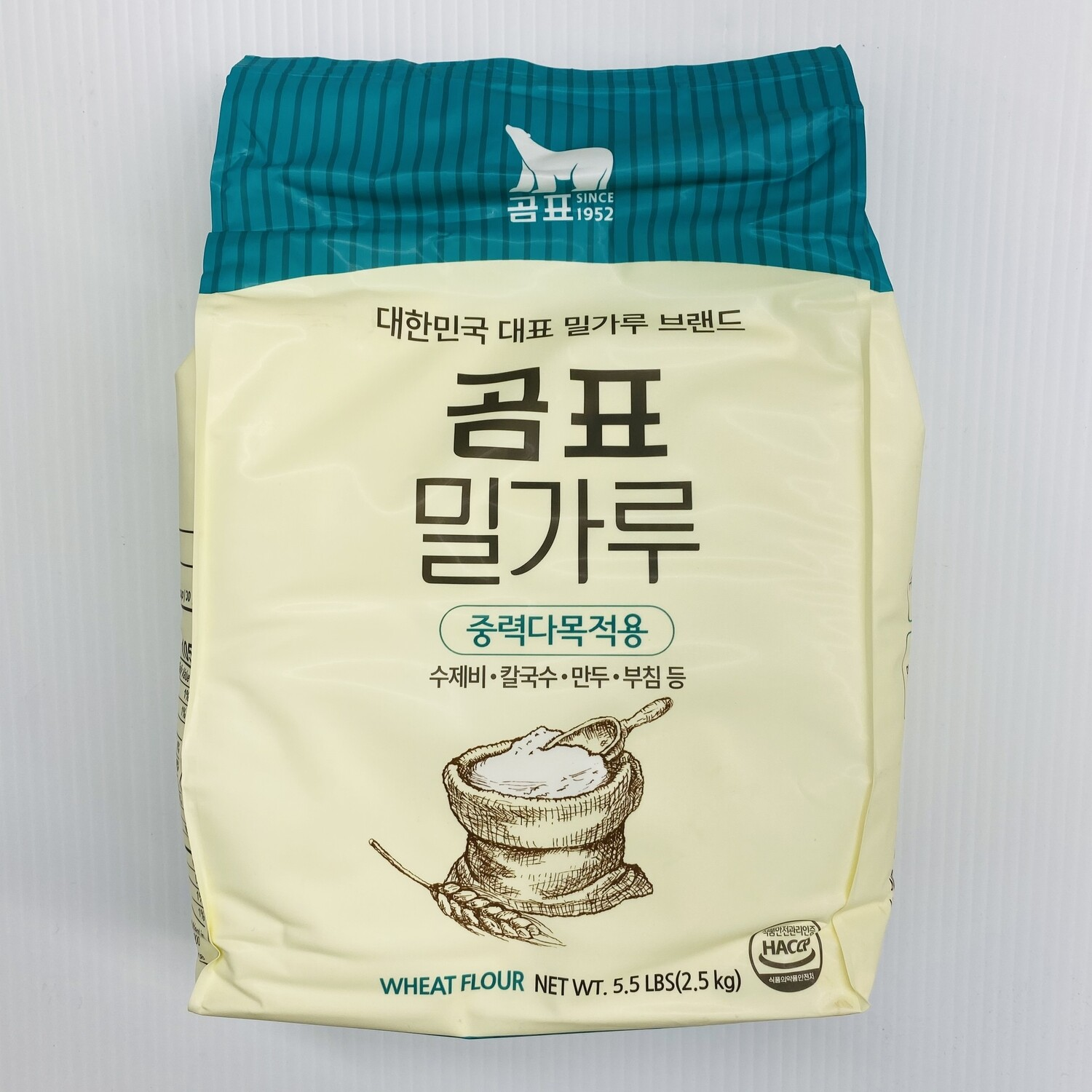 熊牌中筋面粉(限购2包) WANG KOREA WHEAT FLOUR 2.5kg (5.5 lbs)