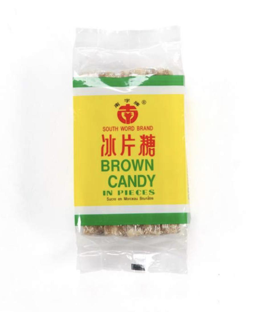 南字冰片糖 South word brand Brown Candy in Pieses 400g (14 oz)