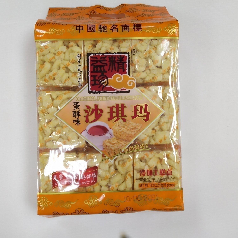 精益珍沙琪玛蛋酥味 Original FRIED FLOUR SNACKS 18pcs 518g (18.27 oz)