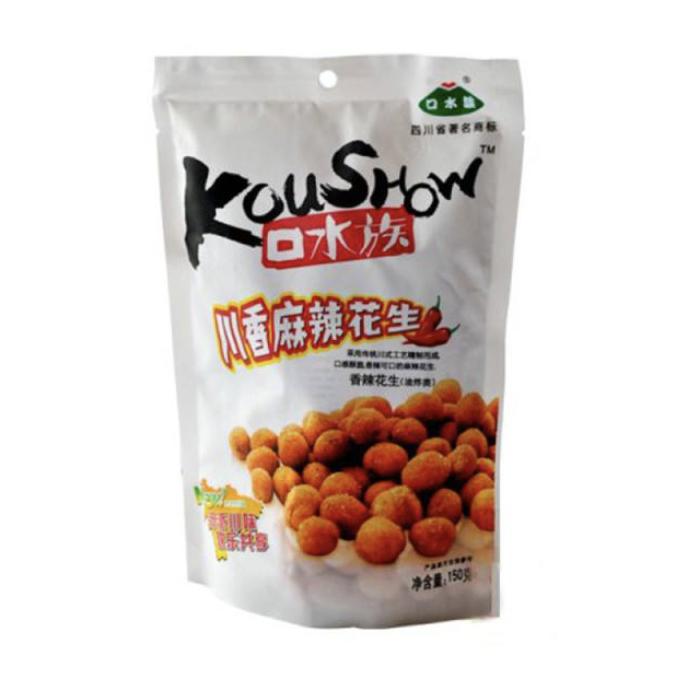 口水族 川香麻辣花生 KOUSHOW Spicy Peanuts 150g