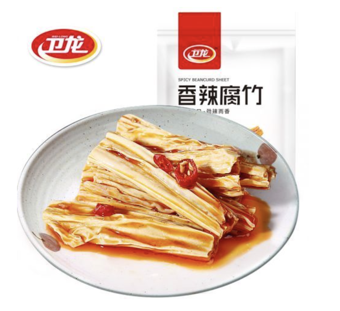 卫龙 香辣腐竹 Spicy Beancurd Sheet 180g