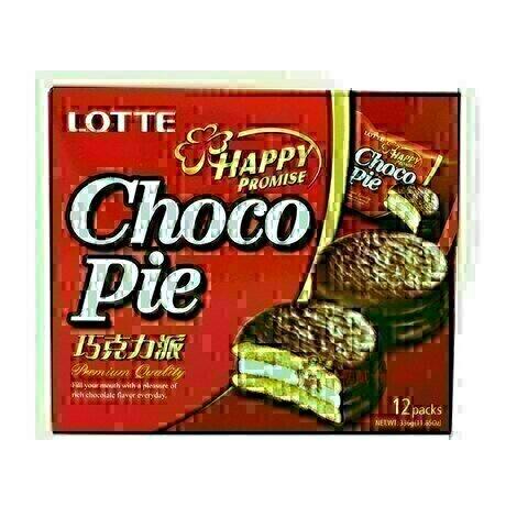 Lotte巧克力派 12pc LOTTE Choco Pie 28g * 12pk