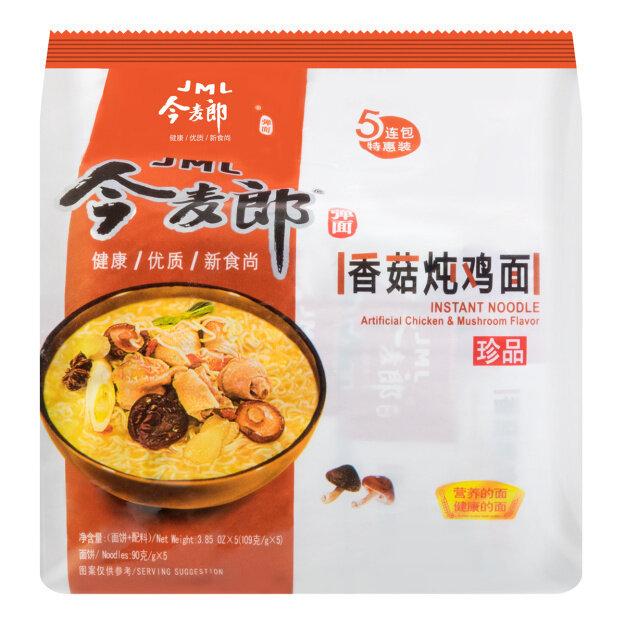 今麦郎 香菇炖鸡面 五连包 JML INSTANT NOODLE artificial Chicken& Mushroom Flavor 600g