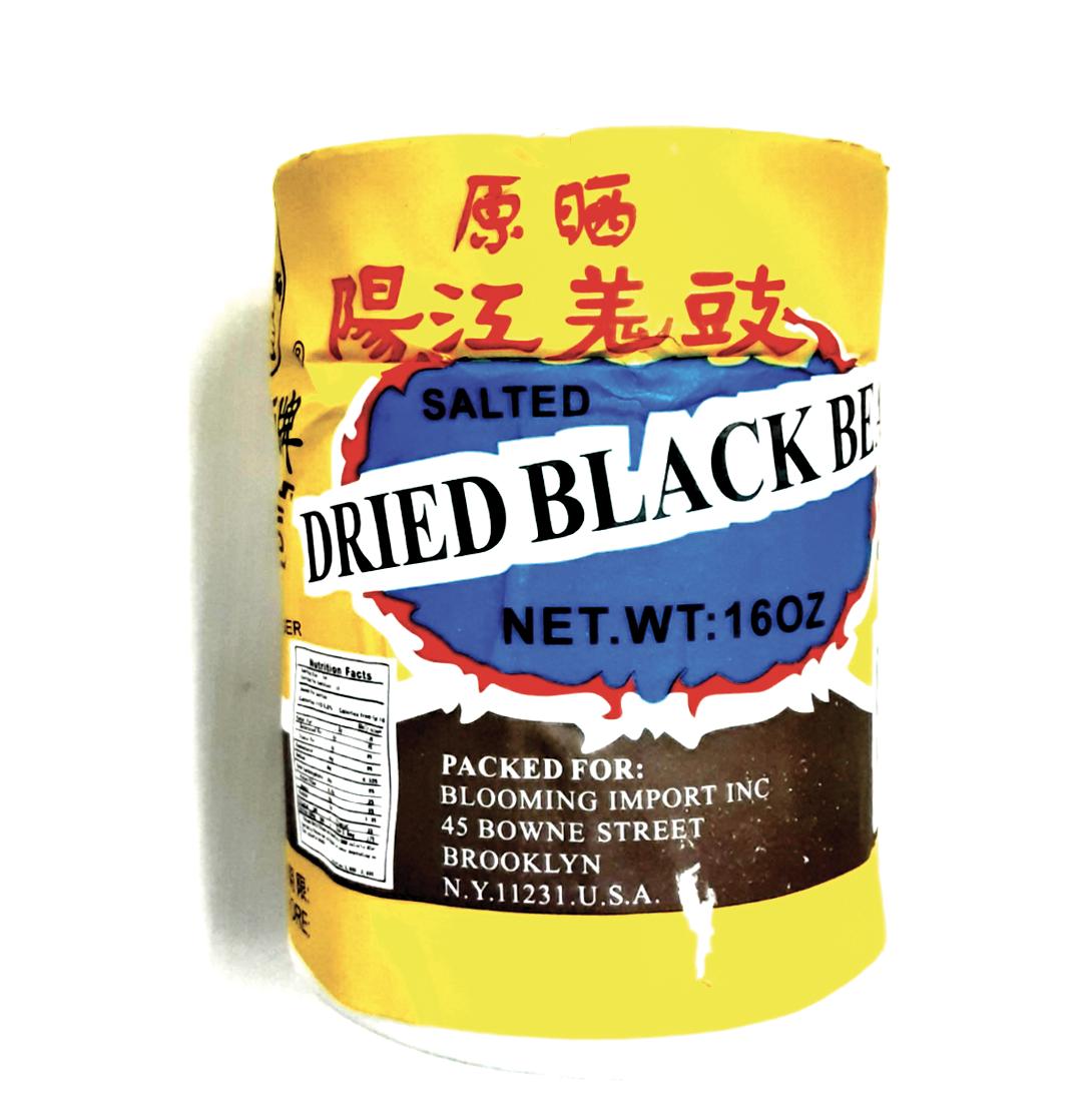 金狮牌原晒阳江姜豉 GOLEN LION Salted Dried Black Bean 16 oz
