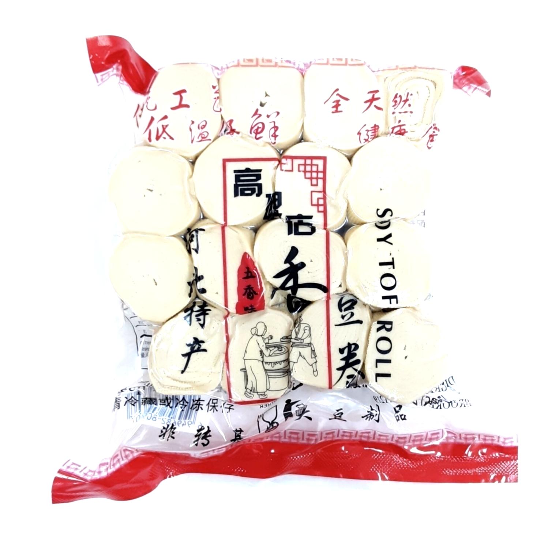 ❄高碑店香豆卷(五香味),非转基因大豆制品 500g(17.6 oz) Soy Tofu Roll 500g(17.6 oz)