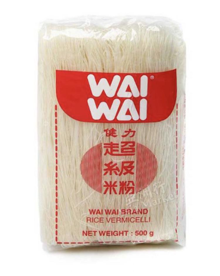 WAI WAI 健力超级米粉 ~500g(17.5oz) WAI WAI BRAND RICE VERMICELLI 500g (17..5oz)