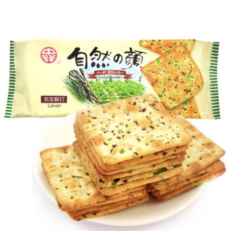 中祥 紫菜苏打饼 ~140g(4.94oz) Soda Crackers Laver 140g (4.94oz)
