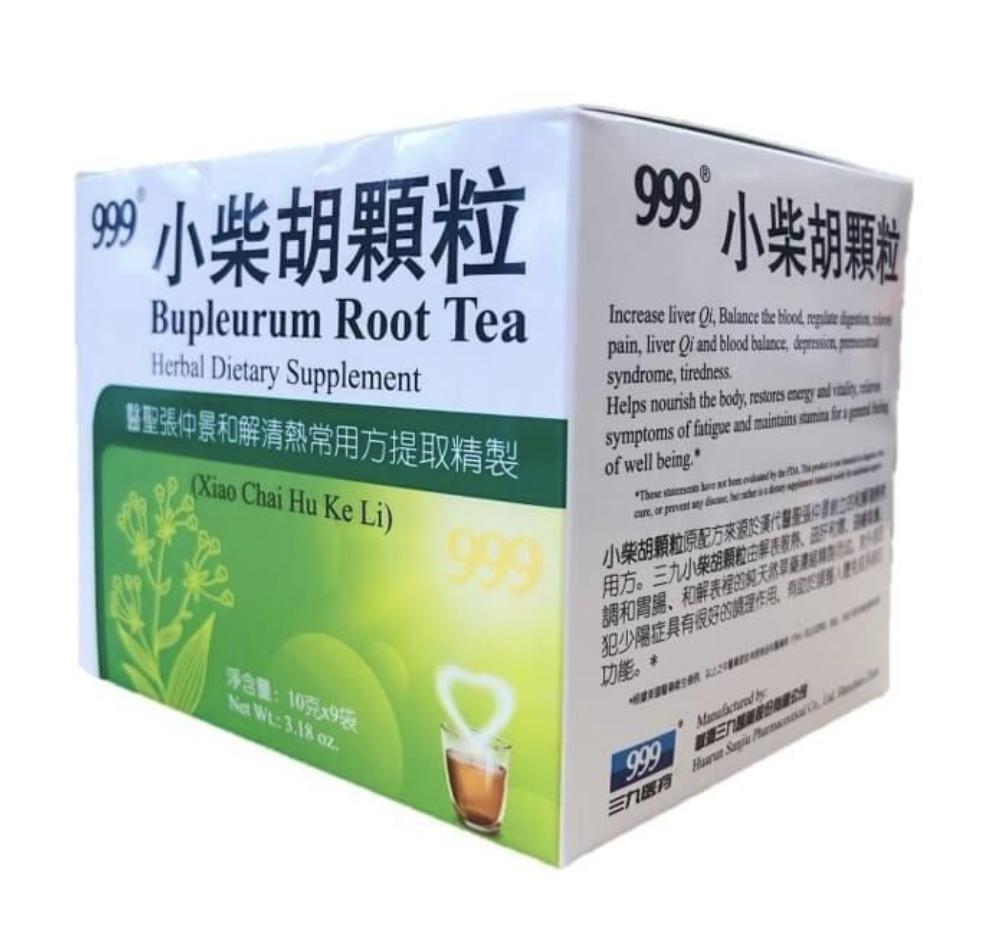 999 小柴胡颗粒 Bupleurum Root Tea Herbal Dietary Supplement 3.18 oz, 10gx9pc