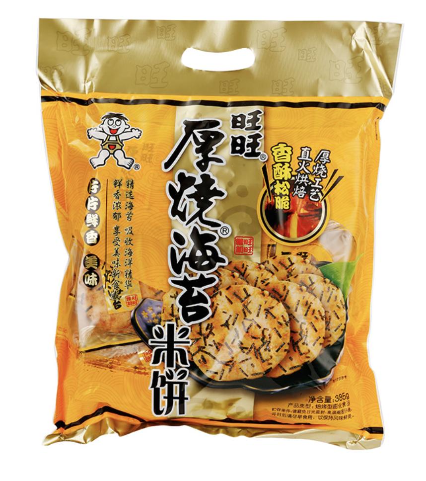 旺旺 厚烧海苔米饼 ~385g WANT WANT SEAWEED RICE CRACKERS ~385g