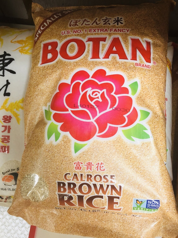 富贵花糙米 ~15lb Botan Calrose Brown Rice ~15lb