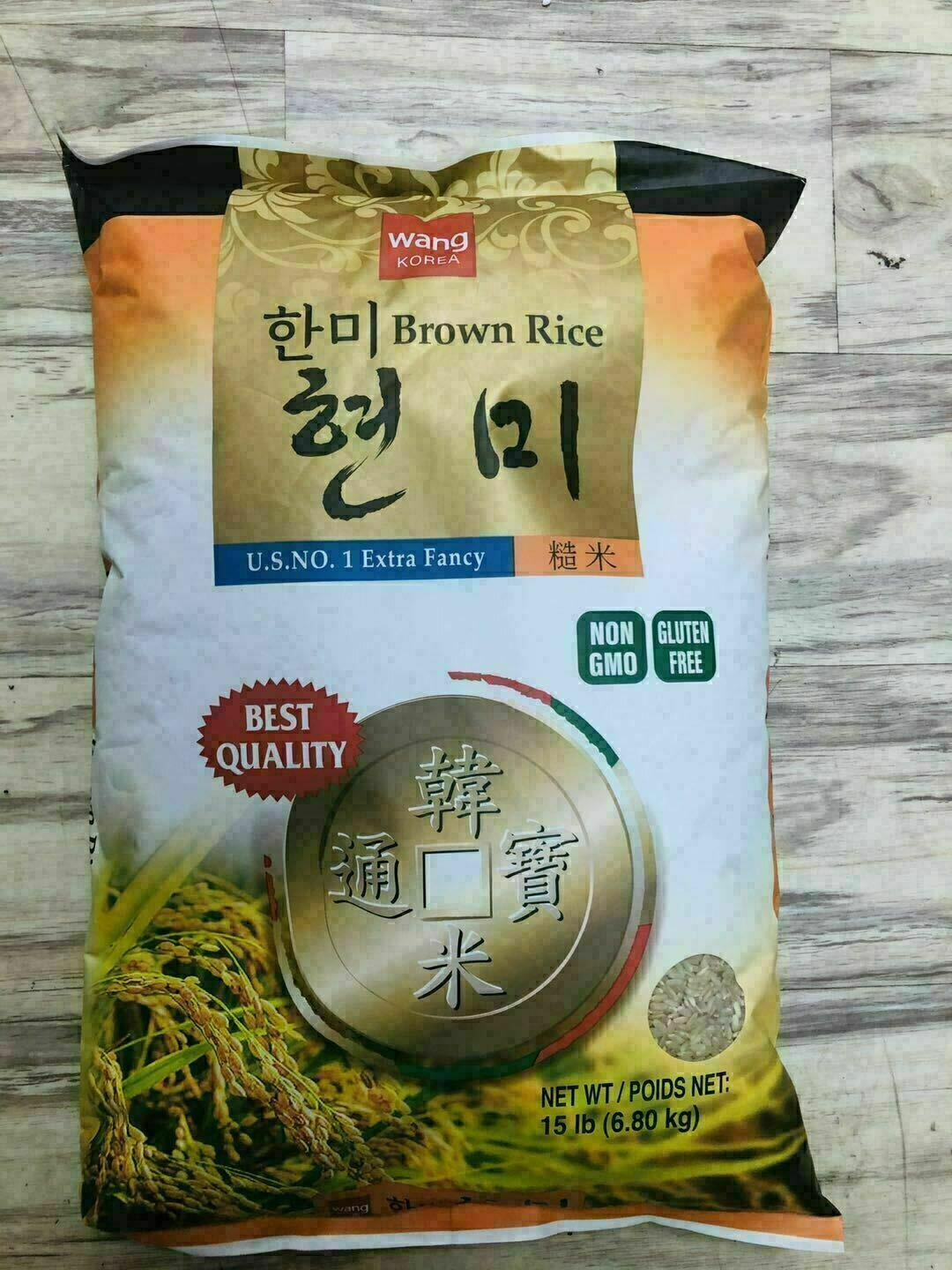 王 韩国糙米 ~15lb Wang Brown Rice ~15lb