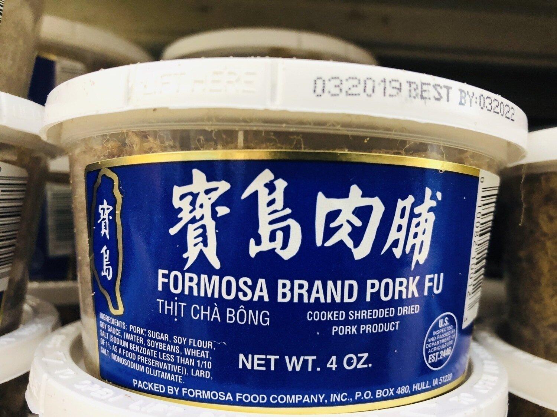 宝岛肉脯罐装 Formaso Brand Pork Fu~4oz