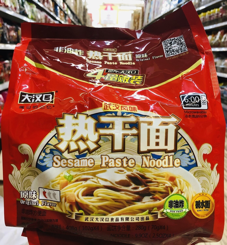 大汉口武汉热干面原味 Sesame Paste Noodle ~408g(102g*4)