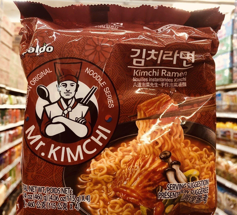 八道泡菜先生-手作泡菜汤面 Mr.KIMCHI Kimchi Ramen ~460g[4.06oz(115g)*4]
