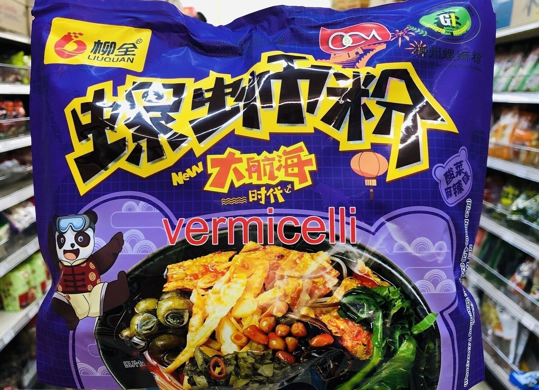 柳全螺狮粉大航海时代酸菜麻辣味 LUQUAN vermicelli Sauerkraut Spicy Flavor~11.8oz(335g)
