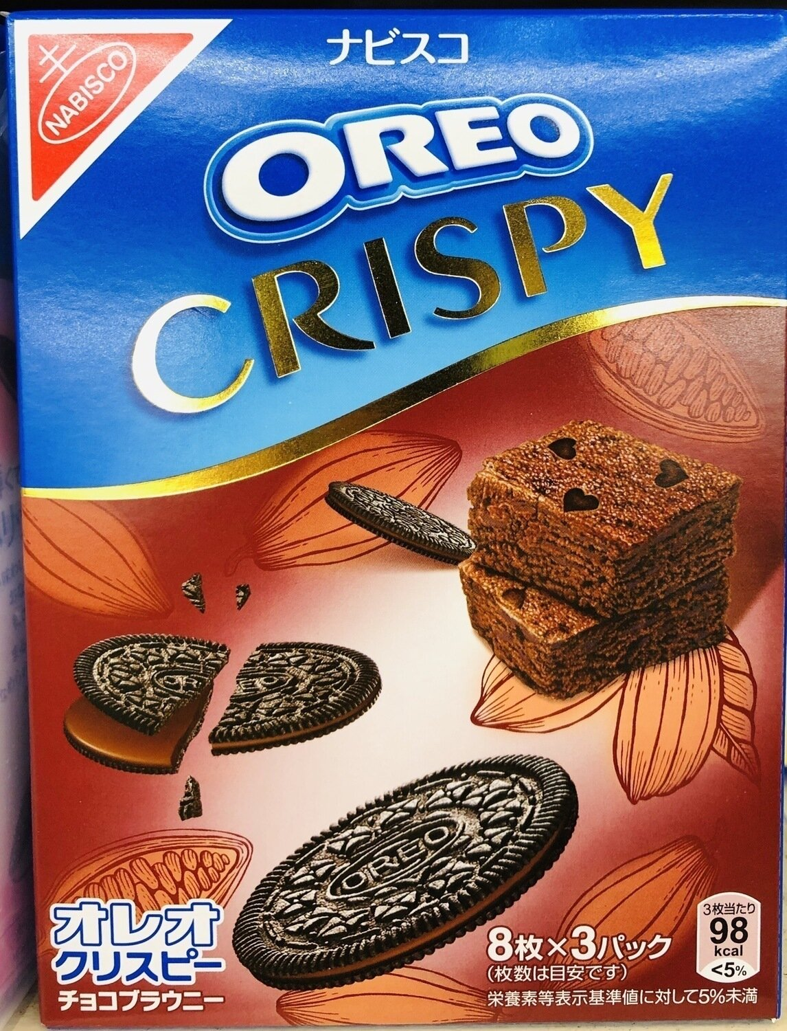 OREO奥利奥巧克力布朗尼 Oreo Crisp Chocolate Brownie~8pc*3