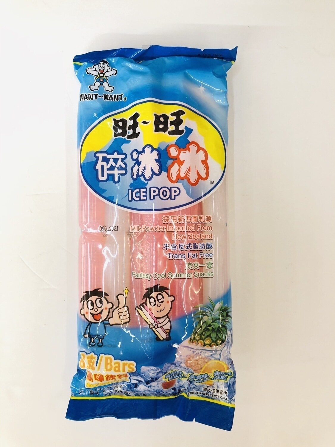 旺旺碎冰冰风味饮料 WANT~WANT ICE POP Mixed Flavored Drink~8 Bars 21.1oz(624ml)