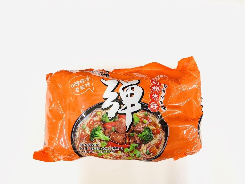 陈村过桥米线香辣牛肉味4包装 SPICY BEEF FLAVOR RICE NOODLE~100g*4
