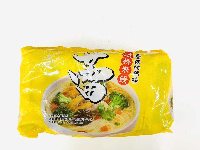 陈村过桥米线香菇炖鸡味4包装 CHICKEN BROTH FLAVOR RICE NOODLE~100g*4