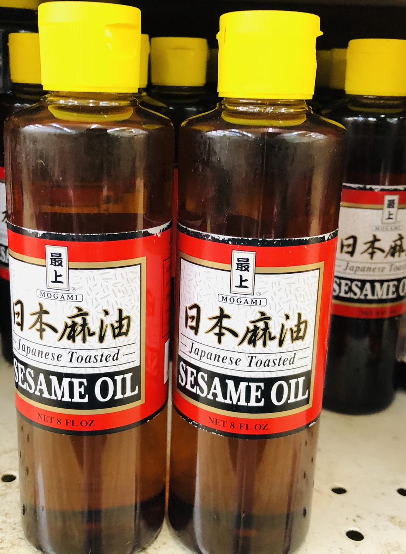 最上 日本麻油 MOGAMI Japanese Toasted SESAME OIL 8 FL OZ